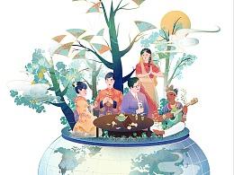 CHINA DAILY中国日报插画配图