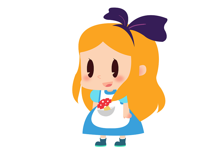 q版百变卡通少女系列(头像) 第一波 范冰冰 小红帽 爱丽丝 小龙女 美