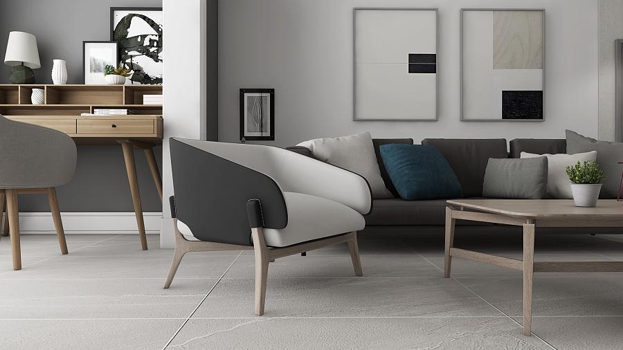 北欧作品客风格空间一组|室内设计|软件|绘制千结构式化作餐厅图片