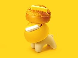 來龍里餐饮品牌 主题公仔设计——Yo仔