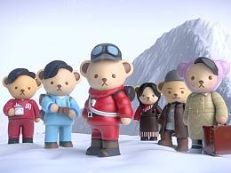 泰迪珍藏《攀登者》电影联名款盲盒动画制作