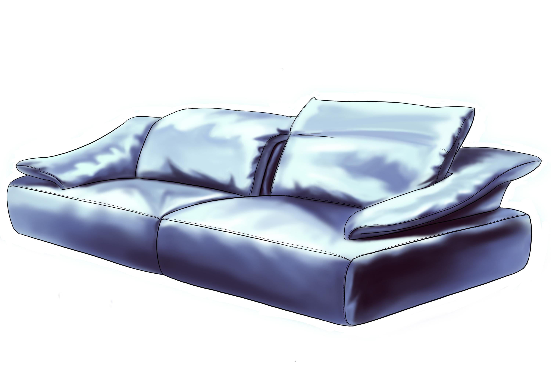 床手绘平面图片