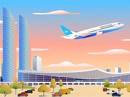 厦门航空MG动画宣传片 航空公司动画  厦门/福州动画