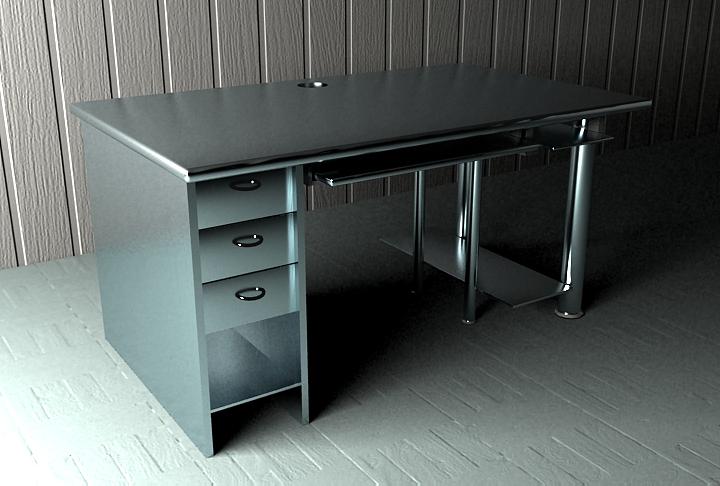 电脑桌|三维|其他三维|91yp - 原创作品 - 站酷