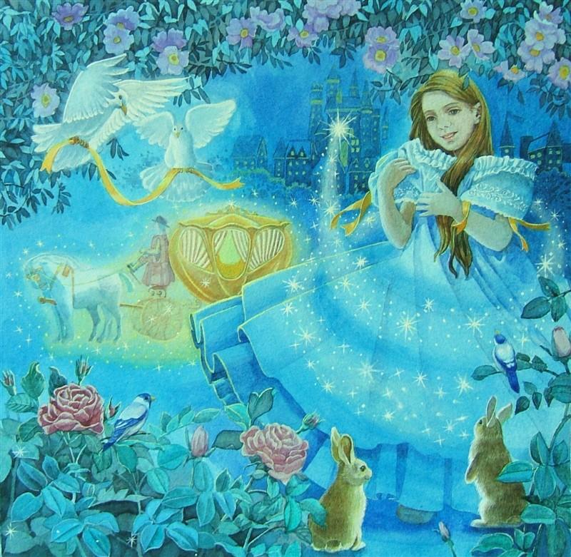 水彩手绘童话故事——灰姑娘