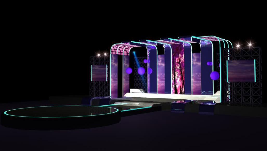 小型演唱会舞台效果图