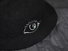 尹子设计【是谁的眼 再望向我】眼睛造型胸针