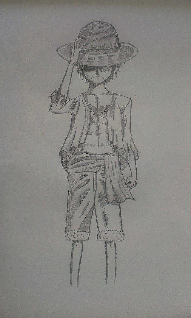 手绘临摹海贼王|动漫|单幅漫画| 孤陋寡闻u_u - 原创