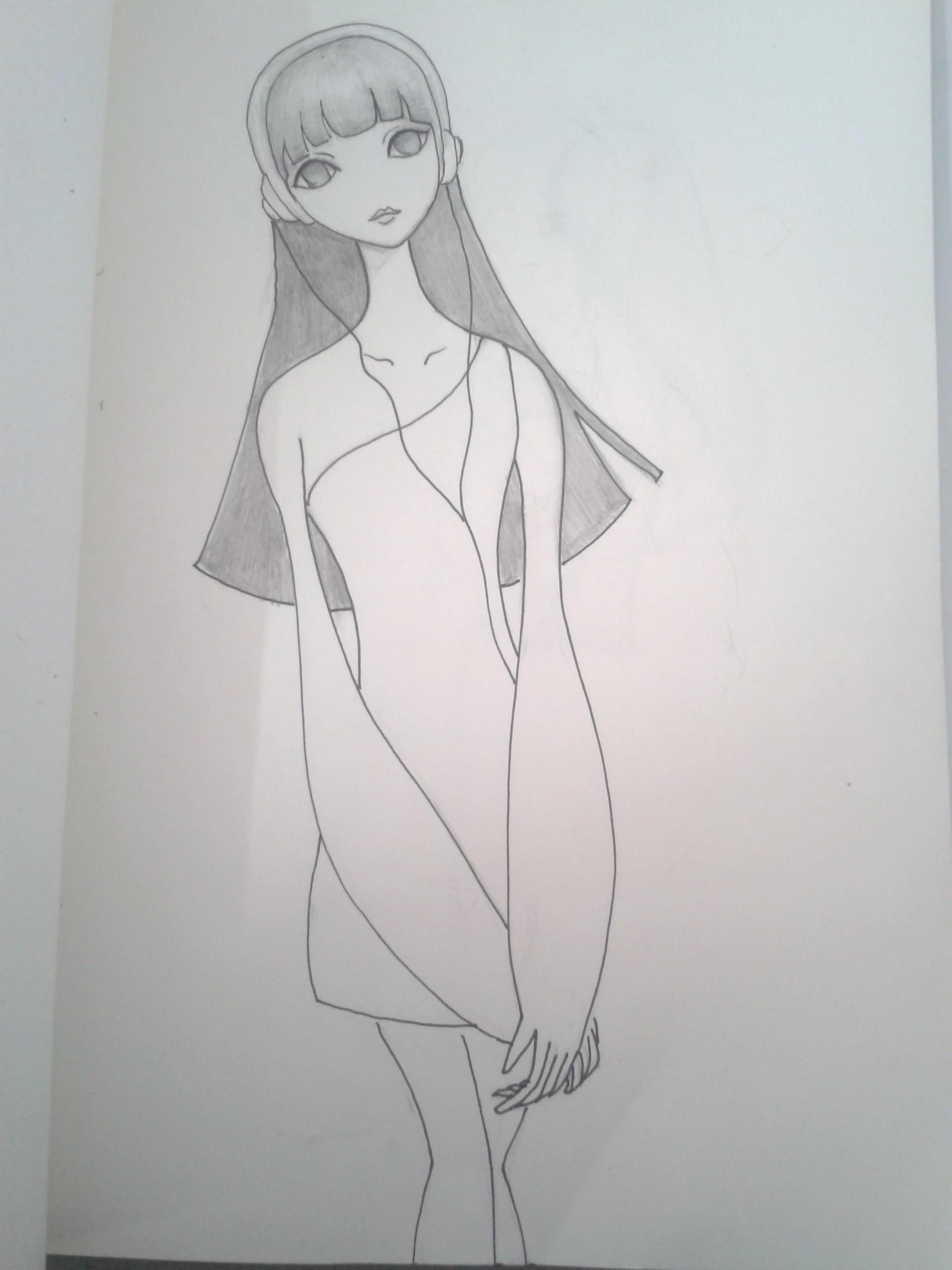 铅笔手绘q版卡通形象
