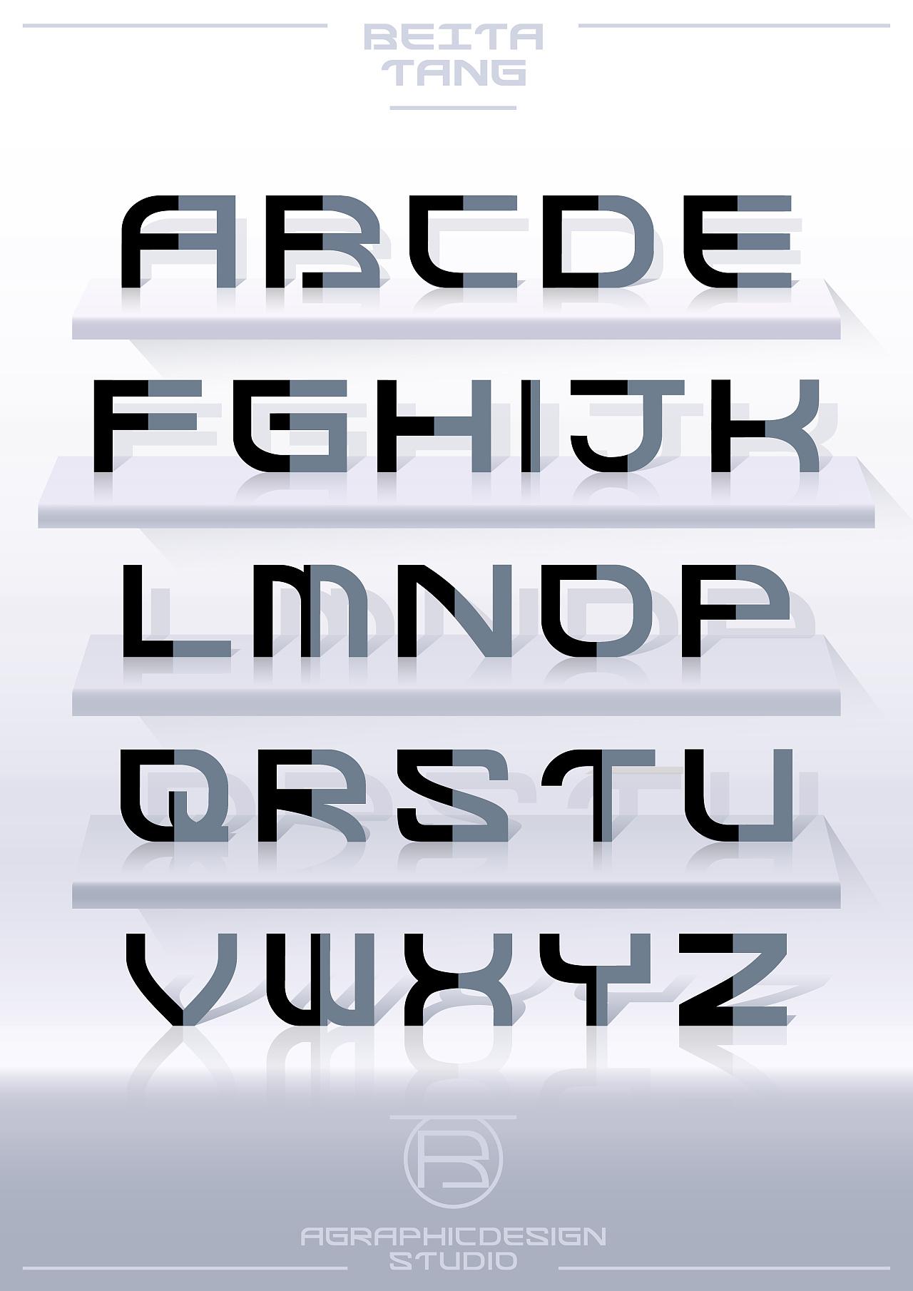 【26个英文字母字体与版式设计】图片