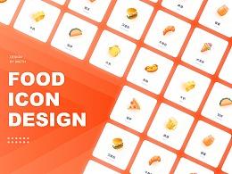 「Icon Design」36个食物图标设计与动效包装
