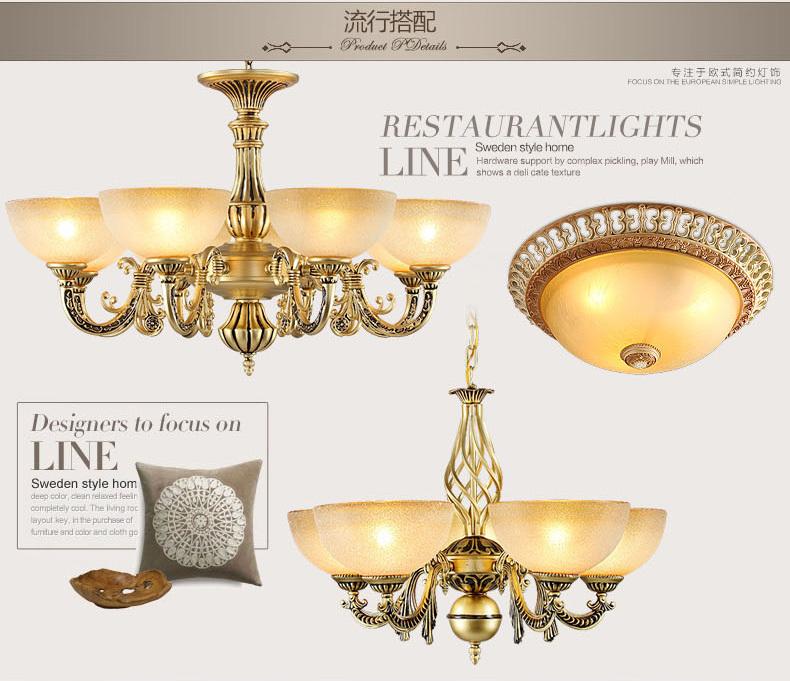 美式灯具详情图片