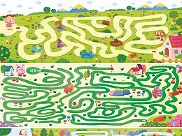 儿童插画迷宫