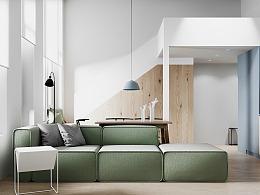 清新而优雅的北欧loft公寓,简而优雅的家