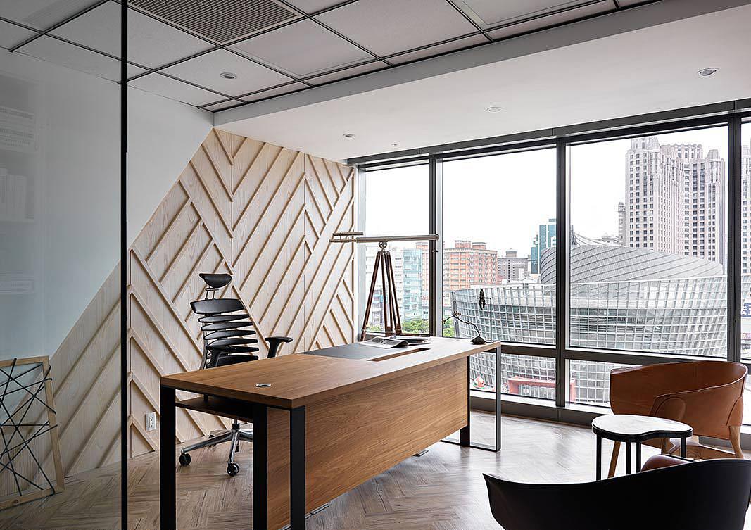 郑州律师办公室装修公司-时尚简约的律师事务所设计图