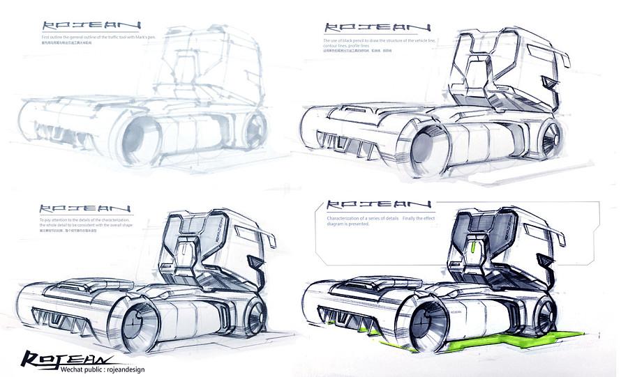 交通工具手绘|交通工具|工业/产品|rojean