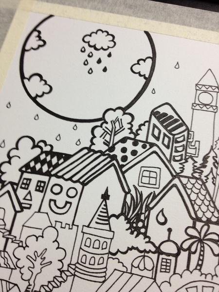 手绘彩色铅笔画
