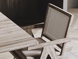 日常搬砖系列-餐桌椅渲染