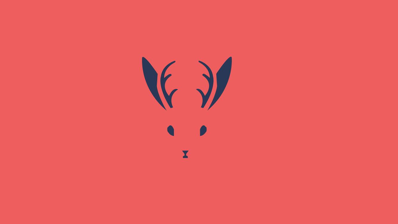 麋鹿简单手绘图