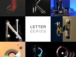 C4D 2017 字母系列 Letter Series