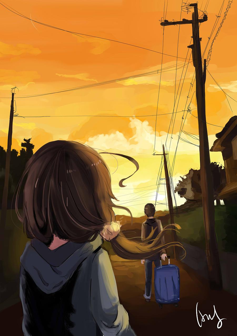 彩色绘画|医学习作|姑娘|漫画漫画minC-原创设蚊子插画图片