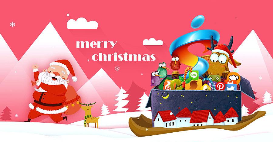圣诞节手绘海报|平面|海报|小