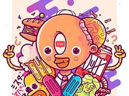 创意插画——嘻哈风