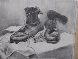 素描-静物鞋子