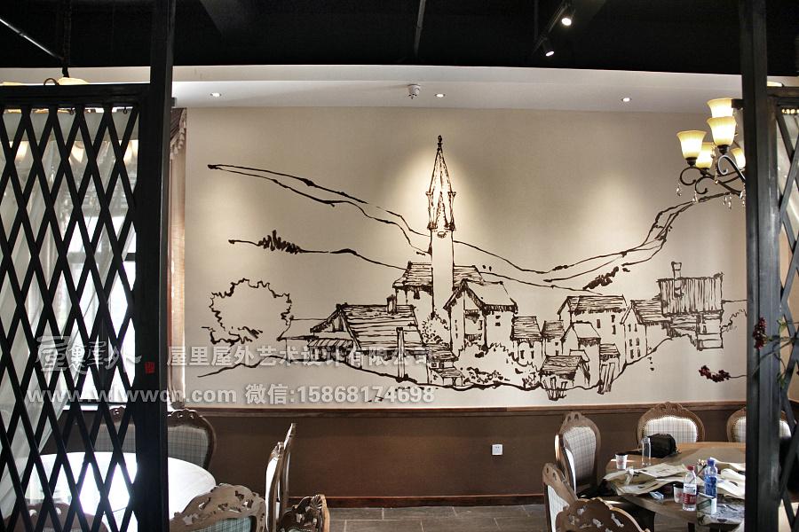 杭州新喜点餐厅(墙绘涂鸦)