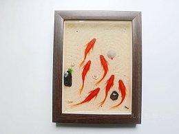 像火一样的红鲤鱼