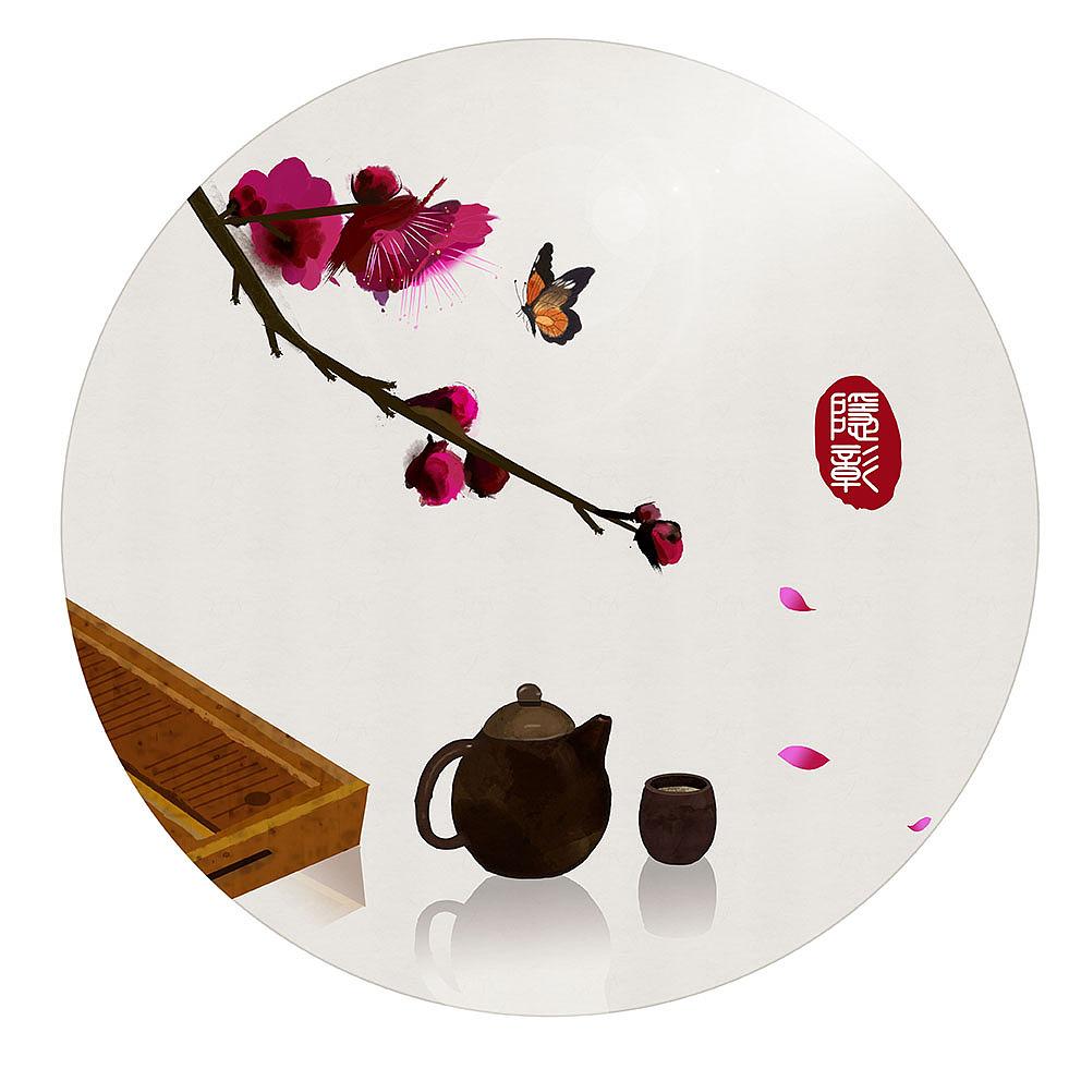 24节气春分古风原创手绘新中式水墨画