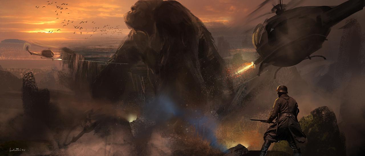 给电影《金刚:骷髅岛》做的一些概念设计
