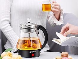#韩国现代#黑色煮茶器详情