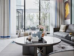 新中式别墅空间效果表现