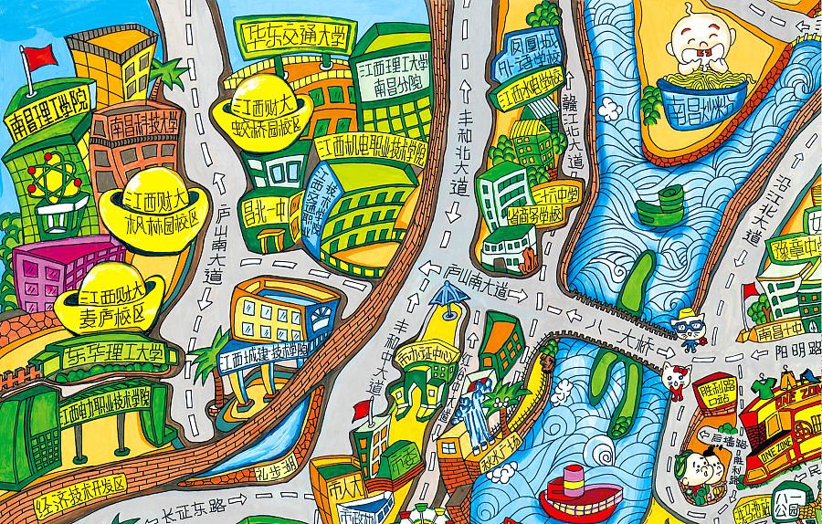南昌手绘地图|dm/宣传单/平面广告|平面|木木wangcai