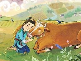 中国传统节日绘本《七夕》