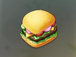 图标练习-汉堡