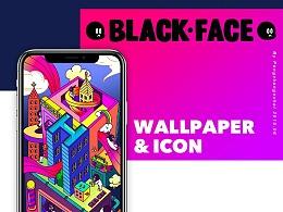 BLACK FACE 黑面人生 主题ICON设计