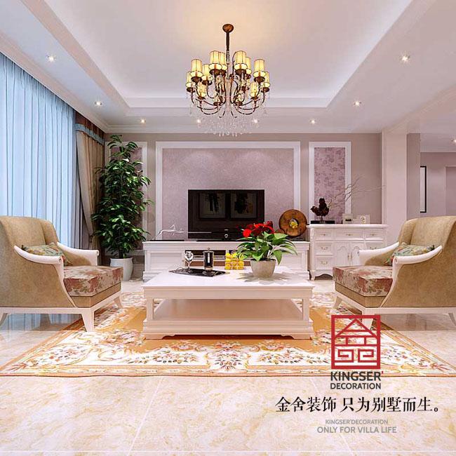 三室两厅139平米-欧式田园-金舍装饰-大宅装修》原图