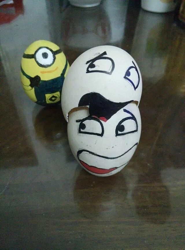 蛋壳手工制作老虎