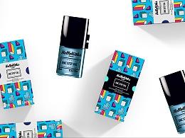 潮流指甲类美妆品牌包装升级一阶段
