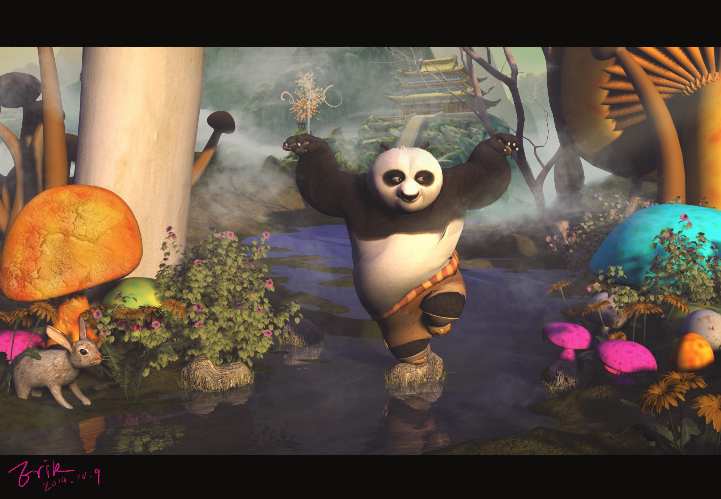 功夫熊猫|三维|场景|lhkkyo - 原创作品 - 站酷