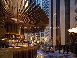 济南瑞光建筑空间摄影——山东大厦大堂吧