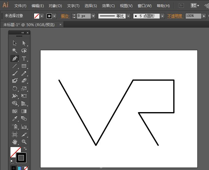 1,在ai里用钢笔工具画以上直线.图片