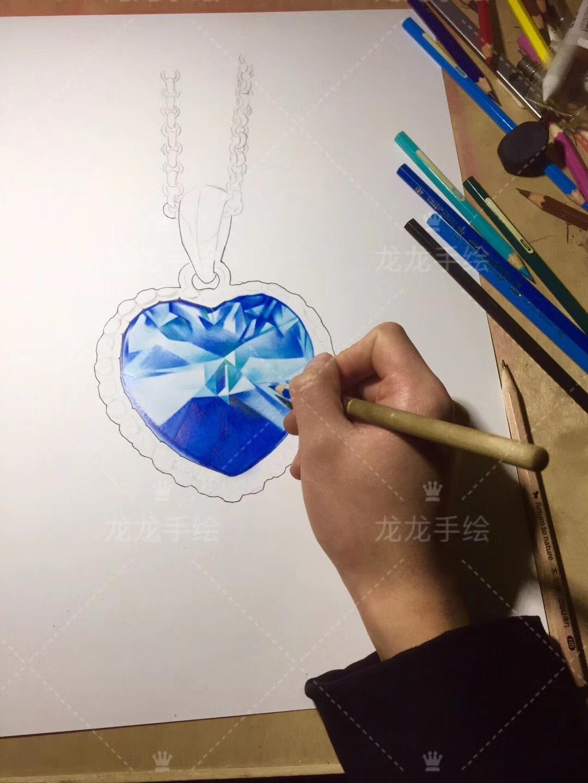 彩铅手绘—海洋之心