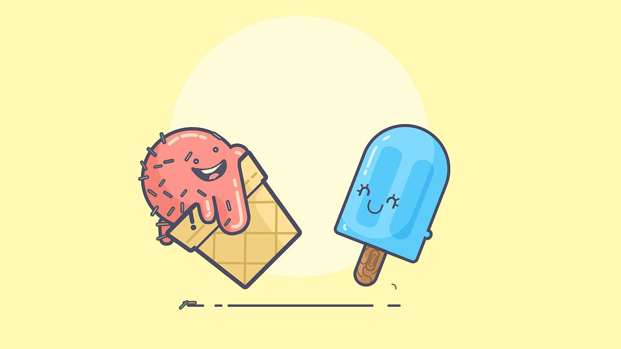 卡通冰淇淋