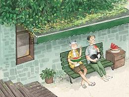 盛夏的一抹绿——小世界系列