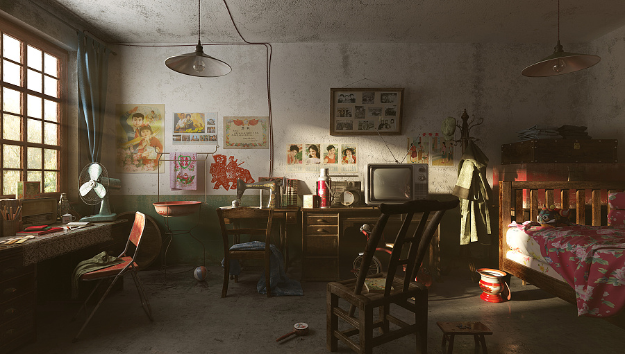 查看《致青春——童年卧室》原图,原图尺寸:2048x1163