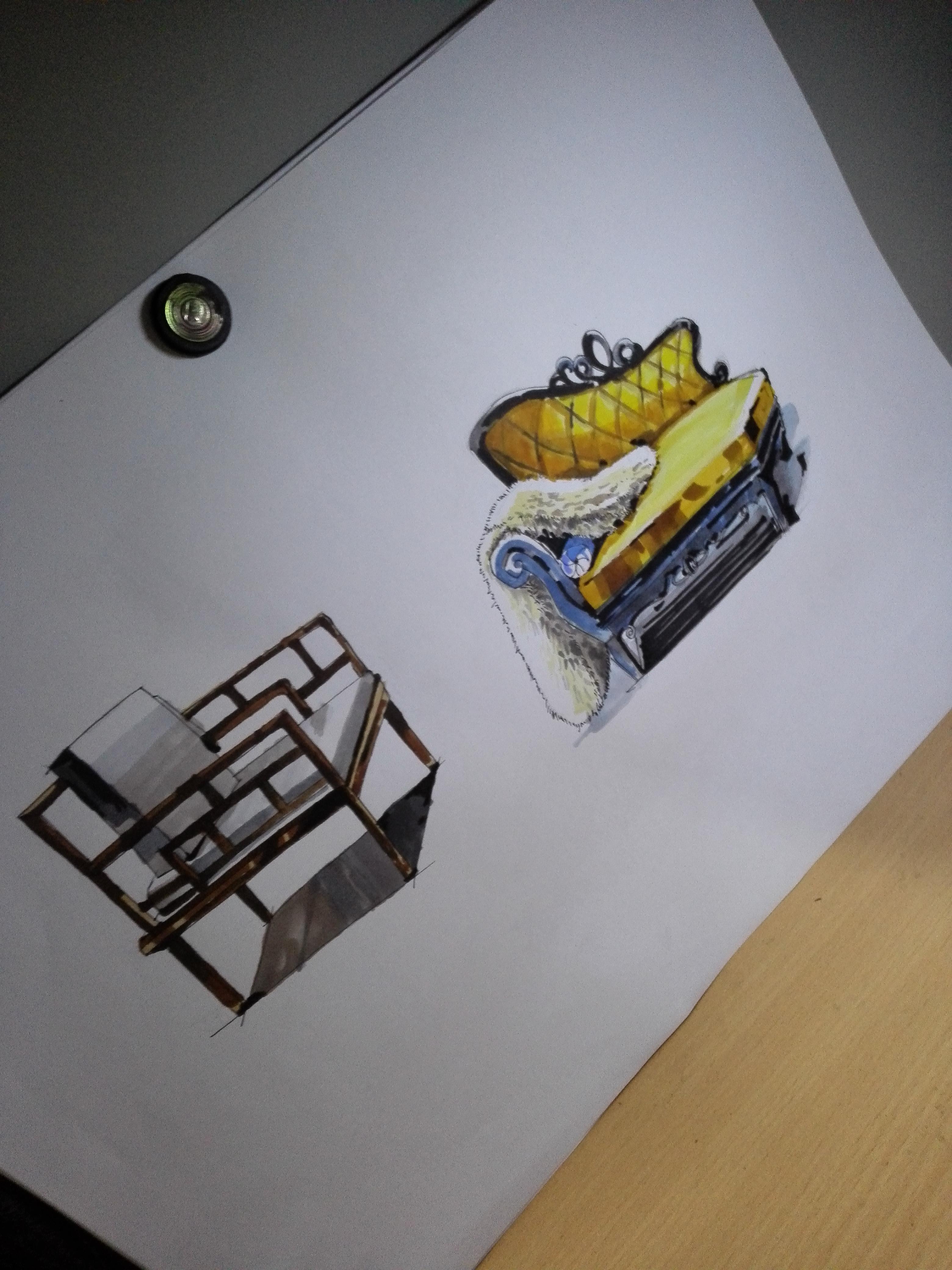 家具马克笔手绘练习