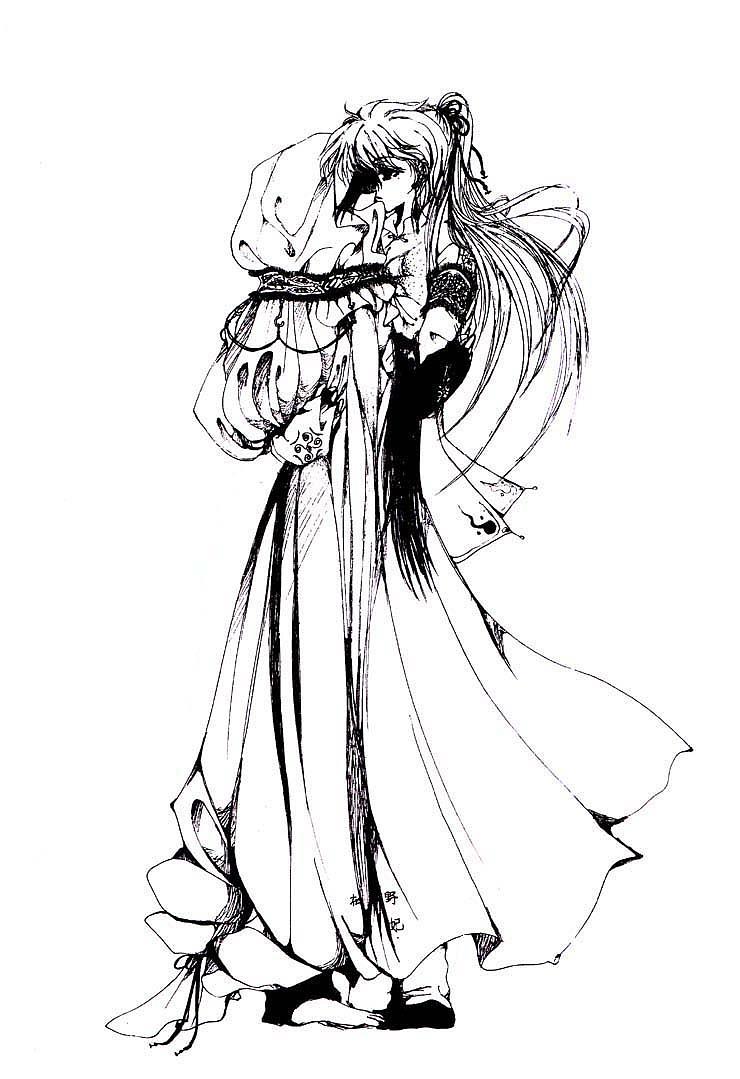 双子星座美少女简笔画